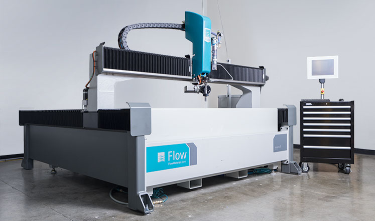 Flow Mach 2c waterjet, showcases a rugged construction.