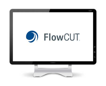 Computer monitor displaying FlowCut