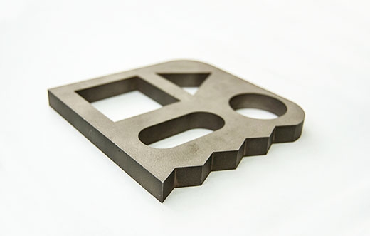 EDM cut metal part
