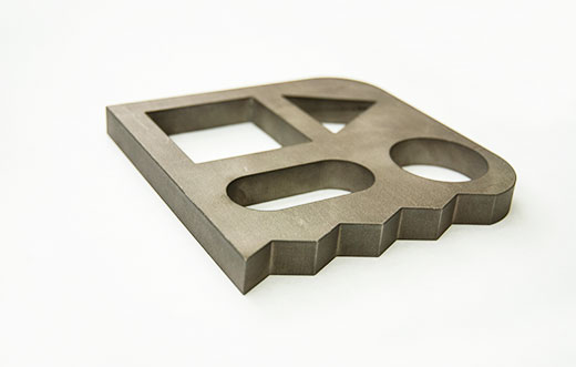 Waterjet cut metal part