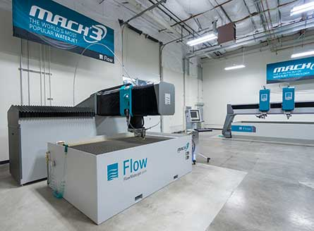 Flow's Mach 3 and Mach 4 waterjets.