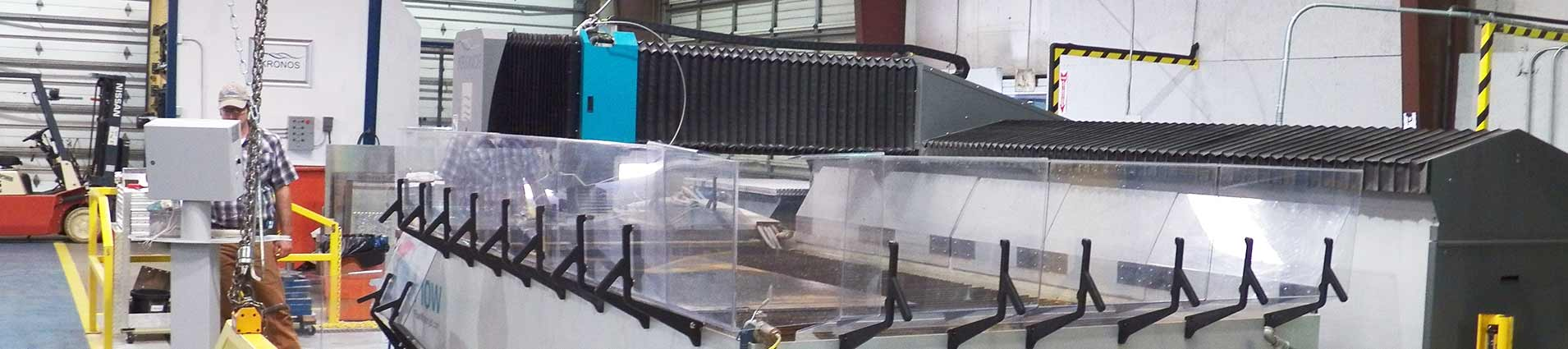 Flow waterjet at Kronos manufacturing facility