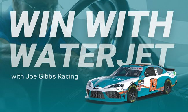 Win with Waterjet - How JGR Gets to Victory Lane with Flow Waterjet